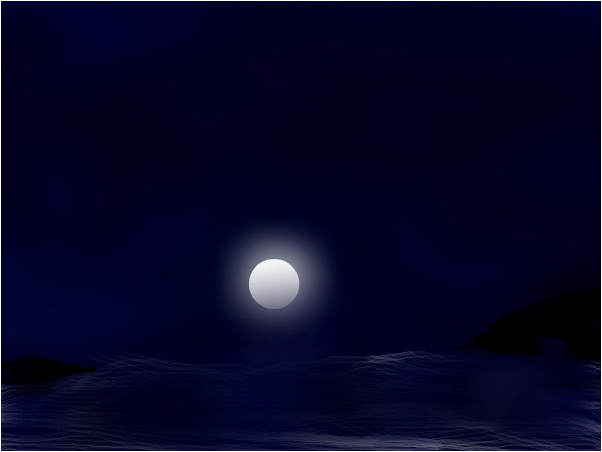 Moon light at sea