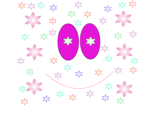 Happy Rainbow Flower Face
