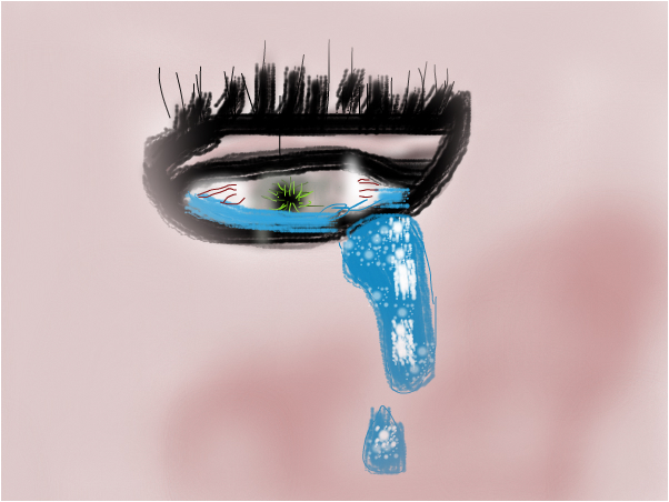 the crying eye