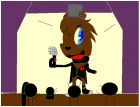 freddy in the stage about to kill kids!!!!!!!!!!
