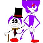 bendy and choco-bendy