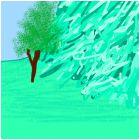 Зелёноголубая скала