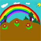 paisaje de arcoíris