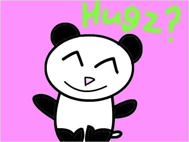panda hugz
