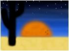 Hazy Cactus Sunset