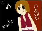 Music girl.