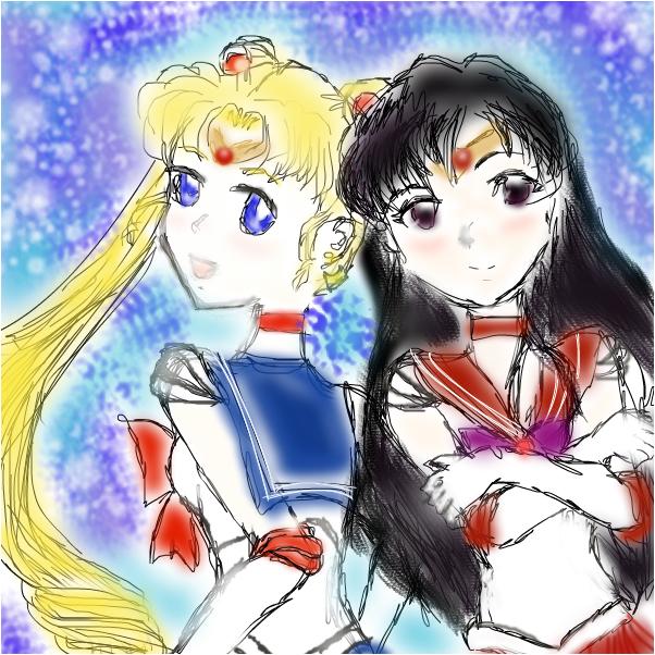 Sailor Moon & Sailor Mars