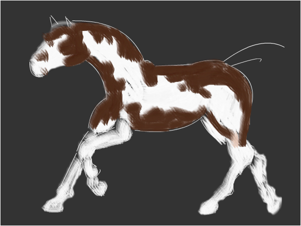 Unfinished Paint Horse