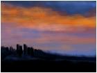 Old Ruins at Sunset