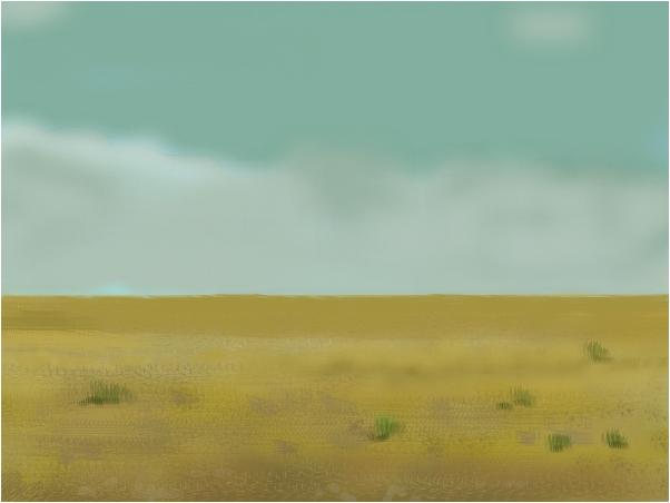 Desert, beneath the sky