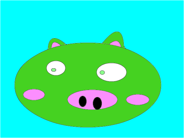 angry birds/green pig
