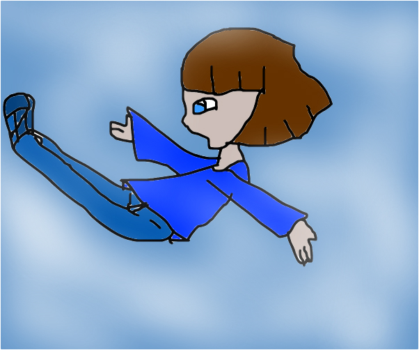 im falling oh no peretty clouds ha
