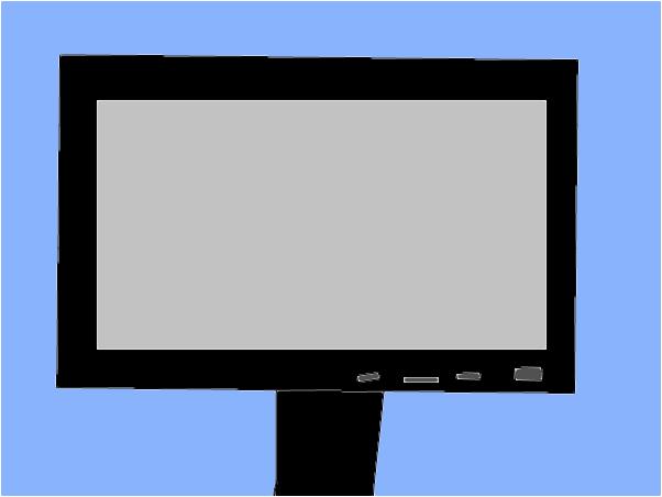 its a flat screen