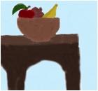 apple,pomigrange,and banna:)